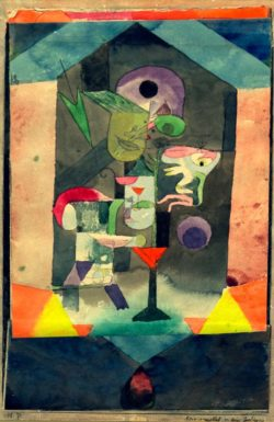 """Paul Klee """"Erinnerungsbild an eine Empfängnis"""" 17 x 26 cm"""