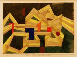 """Paul Klee """"Architectur, transparent structural"""" 33 x 23 cm"""