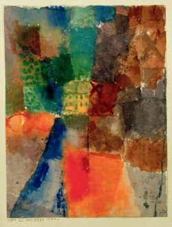 "Paul Klee ""Das gelbe Haus"" 21 x 27 cm"
