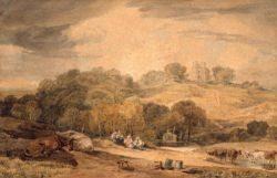 """William Turner """"Donnington Castle, Newbury"""" 15 x 23 cm"""