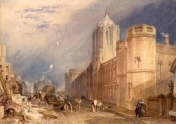 "William Turner ""Oxford, Christ Church College"" 30 x 42 cm"