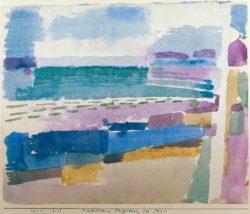 """Paul Klee """"Badestrand St. Germain bei Tunis"""" 27 x 22 cm"""