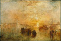 """William Turner """"Venedig, Auf dem Weg zum Ball"""" 62 x 92 cm"""
