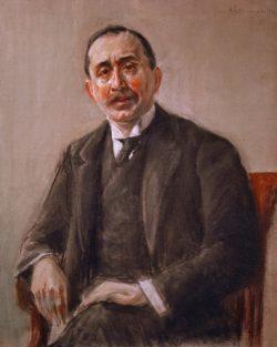 """Max Liebermann """"Bildnis des Direktors Stern"""" 79 x 98 cm"""