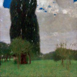 "Gustav Klimt ""Die große Pappel I"" 80 x 80 cm"