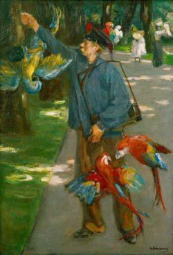 """Max Liebermann """"Der Papageienmann"""" 72 x 102 cm"""