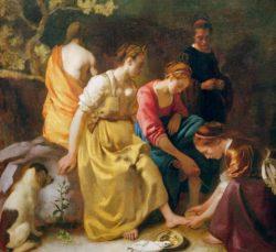 """Jan Vermeer """"Diana mit ihren Gefährtinnen"""" 105 x 98 cm"""