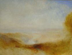 """William Turner """"Landschaft mit Fluß u. Bucht"""" 94 x 124 cm"""