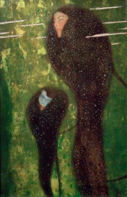 """Gustav Klimt """"Nixen (Silberfische)"""" 52 x 82 cm"""