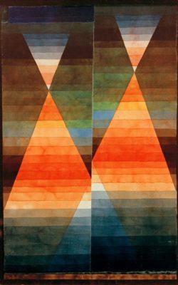 """Paul Klee """"Doppelzelt"""" 32 x 51 cm"""
