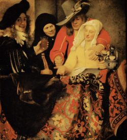 "Jan Vermeer ""Bei der Kupplerin"" 130 x 143 cm"