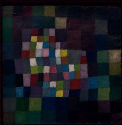 """Paul Klee """"Abstrakt mit Bezug auf einen blühenden Baum"""" 39 x 39 cm"""
