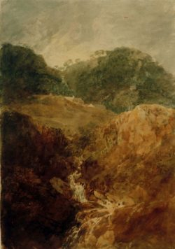 "William Turner ""Ein Bergbach: Quellgebiet des Derwentwater"" 54 x 38 cm"