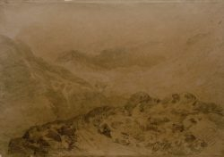 "William Turner ""Felsiger Bergpass"" 35 x 49 cm"