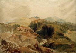 """William Turner """"Yr Aran und Y Wyddfa von den Hängen des Moel Hebog"""" 56 x 77 cm"""