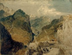 "William Turner ""Der Pic de l'Oeillette, Gorges du Guiers Mort, auf Saint-Laurent-du-Pont zurückblickend"" 57 x 73 cm"