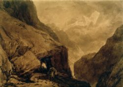 "William Turner ""Sankt Gotthard"" 18 x 26 cm"