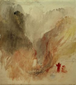 "William Turner ""Blick in die Schlucht bei Pré-Saint-Didier"" 28 x 26 cm"