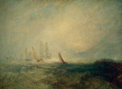 """William Turner """"Fischerboote bringen ein manövrierunfähiges Schiff in den Hafen von Ruysdael"""" 91 x 123 cm"""