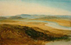 "William Turner ""Campagna Romana: Der Tiber vom Castel Giubelio aus"" 26 x 41 cm"