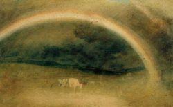 """William Turner """"Ein Regenbogen mit Rindern"""" 26 x 42 cm"""