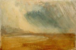 """William Turner """"Regenwolken über einem Strand"""" 31 x 49 cm"""