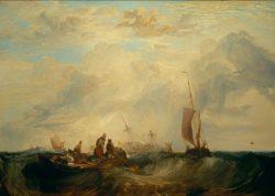 """William Turner """"Mündung der Maas: Handelsschiff für Orangen zerbricht auf der Sandbank"""" 175 x 246 cm"""