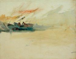 """William Turner """"Stürmischer Himmel"""" 24 x 31 cm"""