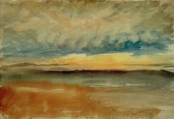 "William Turner ""Sonnenuntergang bei Sturm"" 17 x 25 cm"