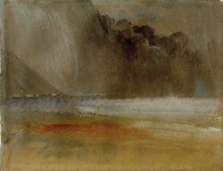 """William Turner """"Getürmte Gewitterwolke über Meer und Strand"""" 23 x 29 cm"""