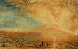 """William Turner """"Bucht von Nneapel (Der Zorn des Vesuv)"""" 18 x 28 cm"""