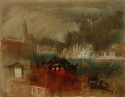 """William Turner """"Venedig: Feuerwerk an der Mole"""" 23 x 30 cm"""