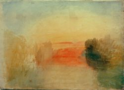 "William Turner ""Sonnenuntergang am Fluss"" 34 x 49 cm"