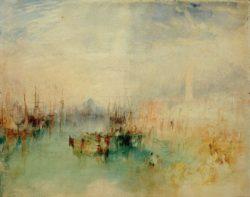 """William Turner """"Venedig: Schiffsabfahrt von der Riva degli Schiavoni, nahe der Ponte dell'Arsenale"""" 24 x 31 cm"""