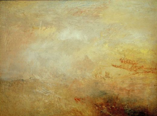 "William Turner ""Stürmische See mit Delphinen"" 90 x 121 cm 1"