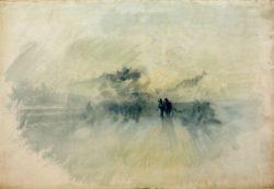 """William Turner """"Menschen im Sturm"""" 35 x 51 cm"""