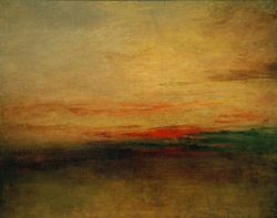 "William Turner ""Sonnenuntergang"" 67 x 82 cm"