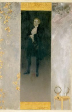 "Gustav Klimt ""Josef Lewinsky als Carlos in Clavigo"" 44 x 64 cm"