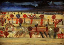 """Paul Klee """"Garten in der Ebene II (mit dem Gartenhäuschen)"""" 26 x 19 cm"""