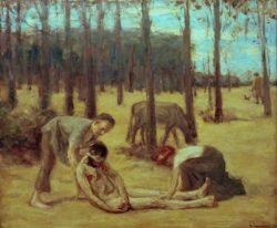 """Max Liebermann """"Der barmherzige Samariter"""" 112 x 93 cm"""
