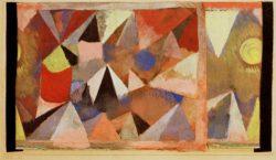 """Paul Klee """"Berglandschaft"""" 23 x 13 cm"""