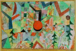 """Paul Klee """"Burg mit untergehender Sonne"""" 28 x 19 cm"""