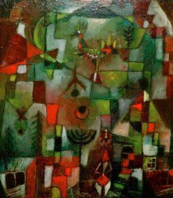 """Paul Klee """"Bild mit dem Hahn und dem Grenadier"""" 41 x 47 cm"""