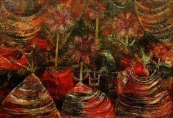 """Paul Klee """"Das Fest der Astern"""" 51 x 36 cm"""