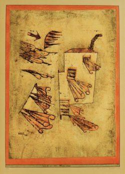 """Paul Klee """"Feuerwind"""" 30 x 43 cm"""