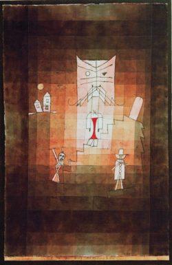 """Paul Klee """"Der Berg der heiligen Katze"""" 32 x 49 cm"""
