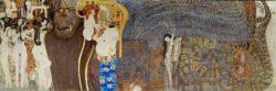 """Gustav Klimt """"Beethovenfries - Die feindlichen Gewalten (Ausschnitt)"""" 636 x 220 cm"""