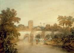 "William Turner ""Bromfield on the River Onny"" 47 x 66 cm"