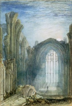 "William Turner ""Melrose Abbey"" 20 x 13 cm"