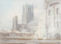 "William Turner ""Kathedrale von Ely"" 24 x 33 cm"